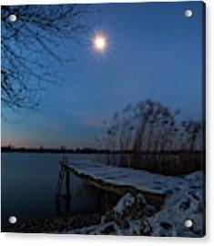 Moonlight Over The Lake Acrylic Print by Davor Zerjav