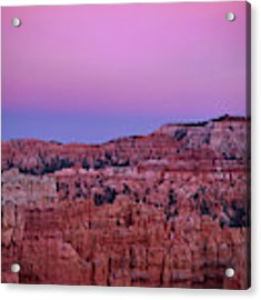 Moonrise Over The Hoodoos Bryce Canyon National Park Utah Acrylic Print by Dave Welling