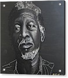 Morgan Freeman Acrylic Print by Richard Le Page