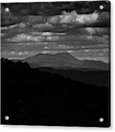 Mount Greylock From Mount Race In Black And White Acrylic Print by Raymond Salani III
