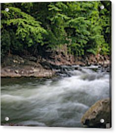 Mountain Stream In Summer #3 Acrylic Print by Tom Claud