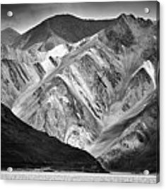 Mountains At Pangong Acrylic Print by Whitney Goodey