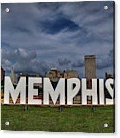 Mud Island Memphis Monument 001 Acrylic Print by Lance Vaughn