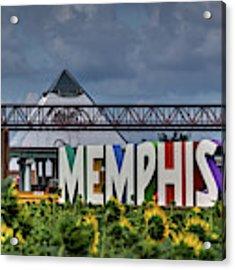 Mud Island Memphis Monument 002 Acrylic Print by Lance Vaughn