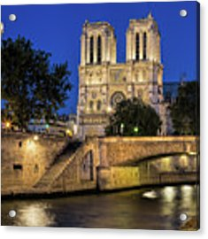 Notre Dame Cathedral Evening Acrylic Print by Jemmy Archer