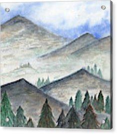 November Mountains Acrylic Print by Betsy Hackett