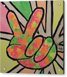 Peace Sign Acrylic Print by Saundra Johnson