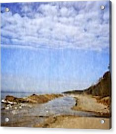 Pier Cove With Big Sky Acrylic Print by Michelle Calkins