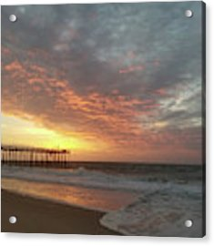 Pink Rippling Clouds At Sunrise Acrylic Print by Robert Banach