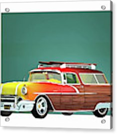 Pontiac Safari Surfer Edition Acrylic Print by Jan Keteleer