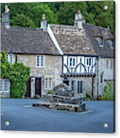 Pre-dawn In Castle Combe Acrylic Print by Brian Jannsen