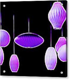 Purple Hanging Lights Acrylic Print by Mel Steinhauer