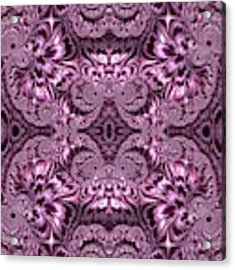 Purple Lilac Gardens And Reflecting Pools Fractal Abstract Acrylic Print by Rose Santuci-Sofranko