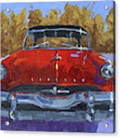 Red 1954 Lincoln Capri Acrylic Print by David King