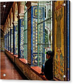Cloister Contemplation Acrylic Print by Jon Exley