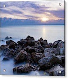 Rocky Beach At Sunset II Acrylic Print by Brian Jannsen