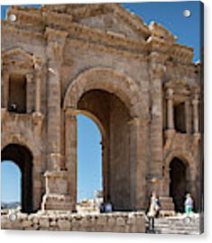 Roman Arched Entry Acrylic Print by Mae Wertz