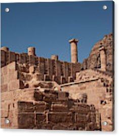 Roman Temple In Petra Acrylic Print by Mae Wertz