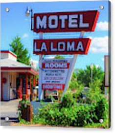 Route 66 Motel Acrylic Print by Mel Steinhauer