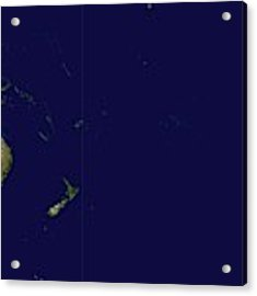 Satellite Image Of Oceania, Australasia And South-eastern Asia Acrylic Print by Celestial Images