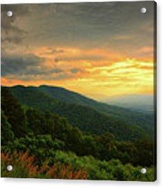 Three Sisters Shenandoah Sunset With George Washington Range In Background With Jeremys Run Acrylic Print by Raymond Salani III