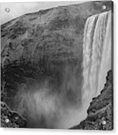 Skogafoss Iceland Black And White Acrylic Print by Nathan Bush
