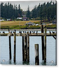 Small Village Along The Columbia River Acrylic Print by Mae Wertz