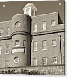 South Carolina State Hospital Asylum Black And White Acrylic Print by Lisa Wooten