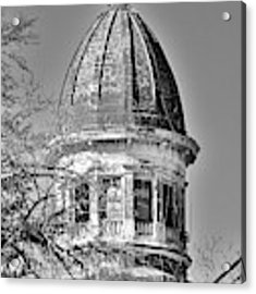 South Carolina State Hospital Dome Black And White 3 Acrylic Print by Lisa Wooten