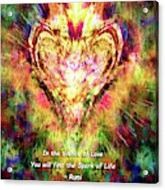 Spark Of Life Acrylic Print by Atousa Raissyan