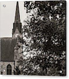 Stone Chapel - Black And White Acrylic Print by Allin Sorenson