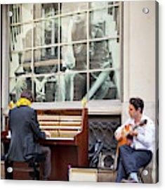 Street Musicians - Paris Acrylic Print by Brian Jannsen
