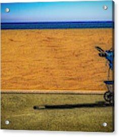 Stroller At The Beach Acrylic Print by Paul Wear