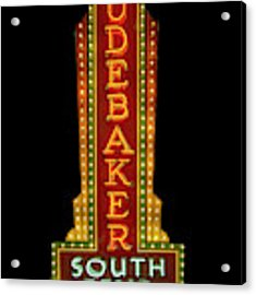 Studebaker Neon Sign Acrylic Print by Susan Rissi Tregoning