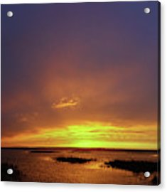Sunset At Cheyenne Bottoms -02 Acrylic Print by Rob Graham