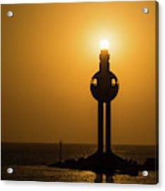 Sunset In Port Jeddah, Saudi Arabia Acrylic Print by William Dickman