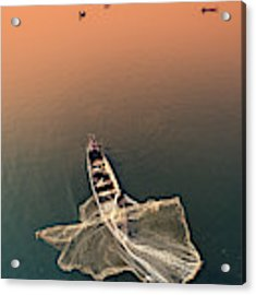 Taungthaman Lake Acrylic Print by Marji Lang
