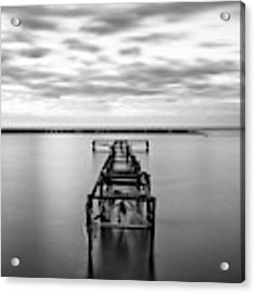 The Abandoned Pier Acrylic Print by Michalakis Ppalis
