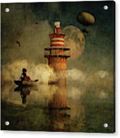 The Conducting Lighthouse Acrylic Print by Jan Keteleer