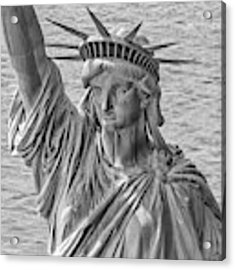 The Face Of Liberty Acrylic Print by Rand