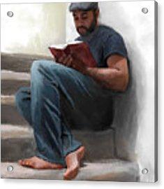 The Good Book Acrylic Print by Dwayne Glapion