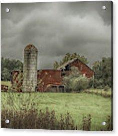 Threatening Skies Acrylic Print by Judy Hall-Folde