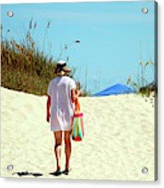 Time Away At The Beach Acrylic Print by Cynthia Guinn