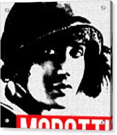 Tina Modotti Acrylic Print by MB Dallocchio