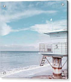 Torrey Pines Beach Lightguard Station Number 5 Acrylic Print by Wendy Fielding