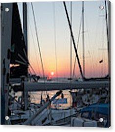 Trieste Sunset Acrylic Print by Helga Novelli