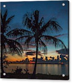 Twin Palms Sunrise Acrylic Print by Tom Claud