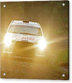 Wales Rally 2016 Acrylic Print by Elliott Coleman