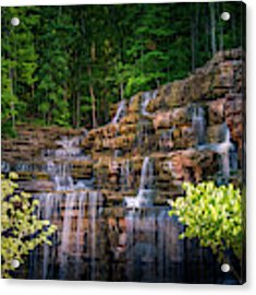 Waterfall At Top Of The Rock Acrylic Print by Allin Sorenson