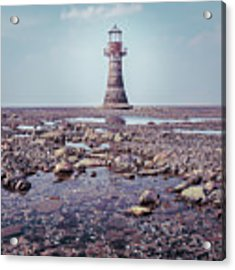 Whiteford Point Lighthouse Acrylic Print by Elliott Coleman